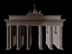 3D-Modell Brandenburger Tor