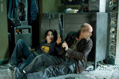 Bruce Willis and Justin Long