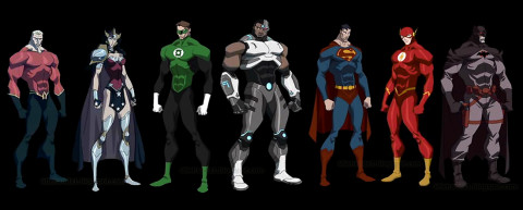 Justice League The Flashpoint Paradox Lineup