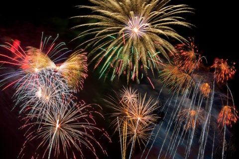 Feuerwerk 2013 auf 2014 in Neufarn beim Stangl -wirt